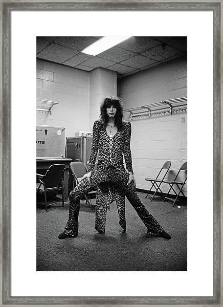 Aerosmith Live At Msg Framed Print