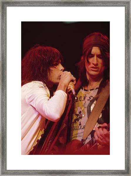 Aerosmith Live Framed Print