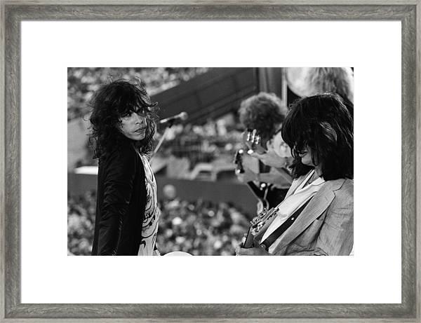 Aerosmith Performs Live Framed Print