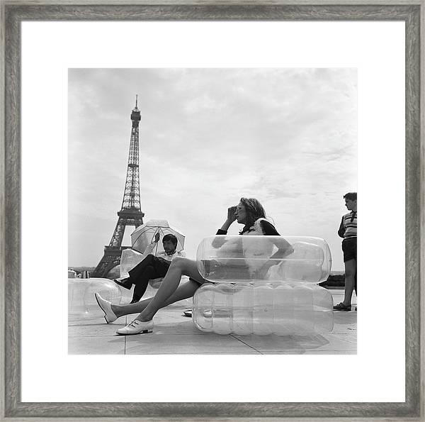 Aerospace Furniture At Trocadero In 1967 Framed Print