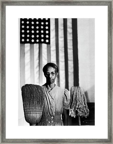 African American Cleaning Woman Ella Framed Print by Gordon Parks