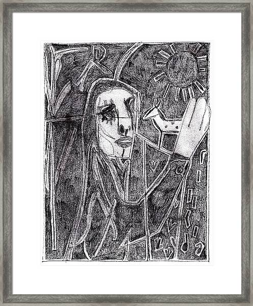After Childish Edgeworth Pencil Drawing 10 Framed Print