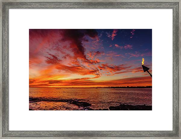 After Sunset Colors At Kailua Bay Framed Print