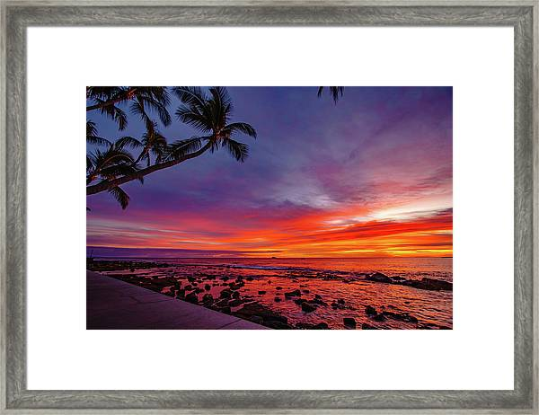 After Sunset Vibrance Framed Print
