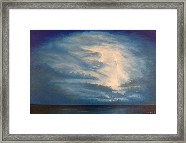 Framed Print featuring the painting After The Storm by Kevin Daly
