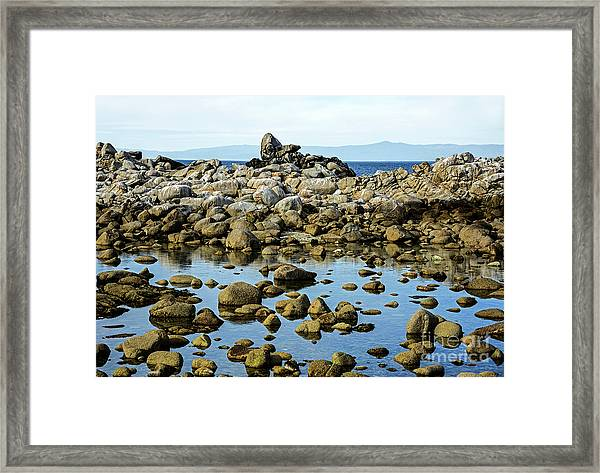 After The Waves Calmed Down Framed Print