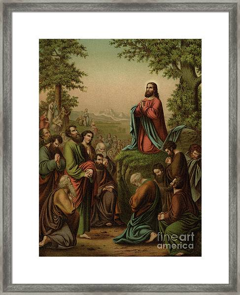 After This Manner Therefore Pray Ye  Our Father Which Art In Heaven Framed Print