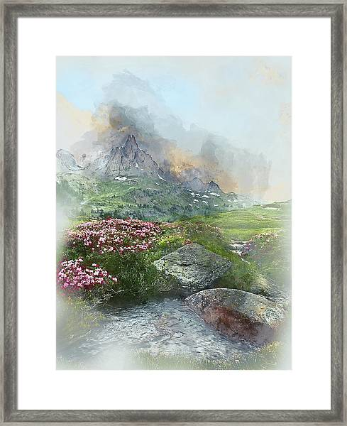 Afternoon Light In The Alps II Framed Print