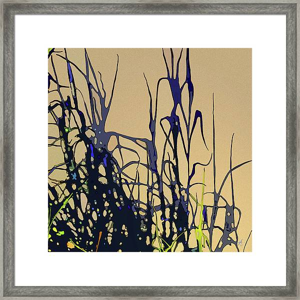 Framed Print featuring the digital art Afternoon Shadows by Gina Harrison