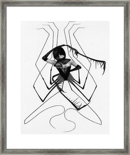 Aiko The Mistress Noir - Artwork Framed Print
