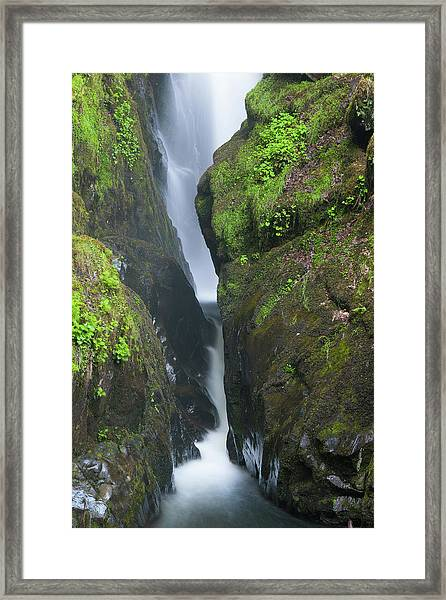 Aira Force Waterfall In The Lake District. England.  Framed Print