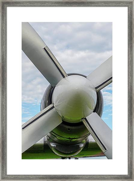Framed Print featuring the photograph Aircraft Propellers. by Anjo Ten Kate