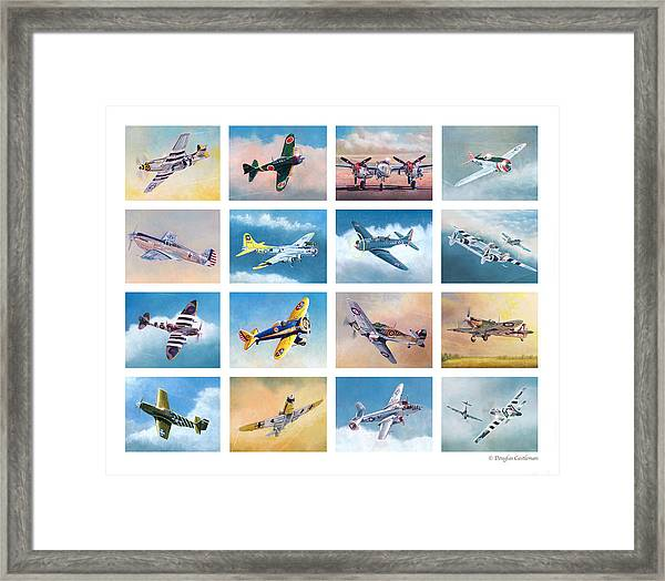 Airplane Poster Framed Print
