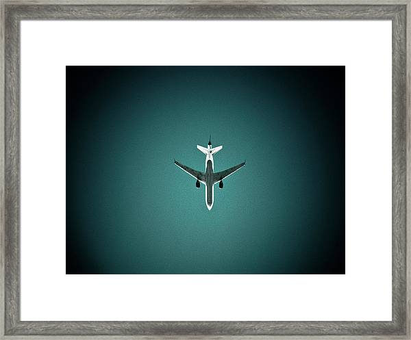 Airplane Silhouette Framed Print