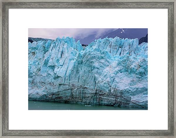Alaskan Blue Glacier Ice Framed Print