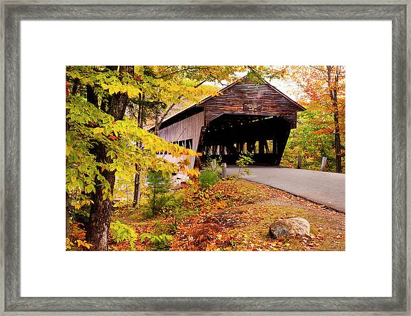 Albany Covered Bridge Near Conway, New Framed Print by Danita Delimont
