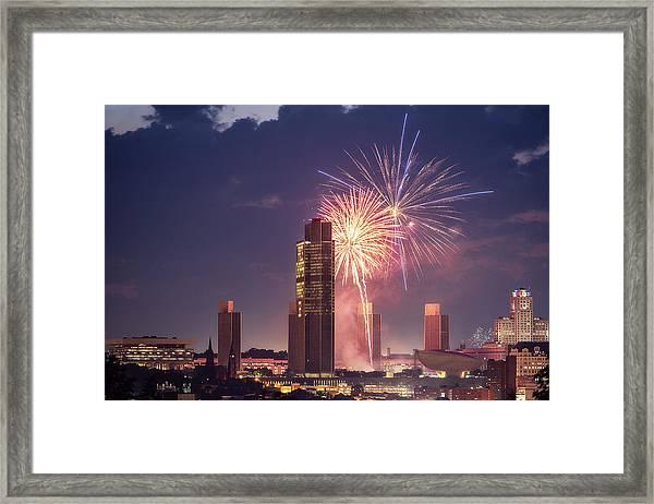 Albany Fireworks 2019 Framed Print