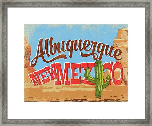 Albuquerque New Mexico Desert Framed Print