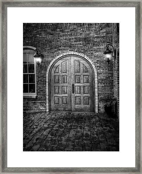Alehaus Bw Framed Print