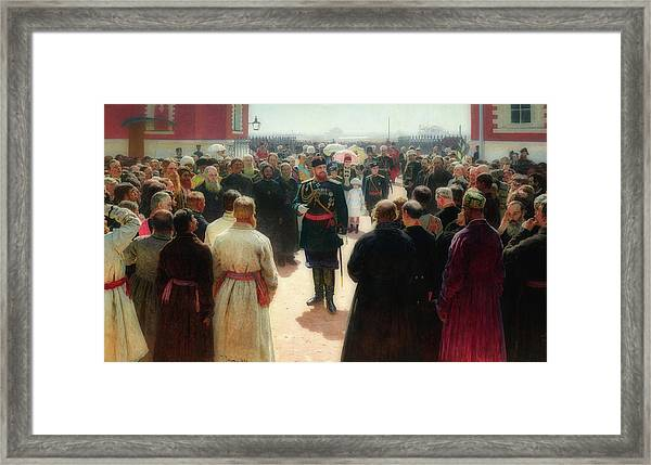 Alexander I I I Receiving Rural District Elders At Petrovsky Pa Framed Print
