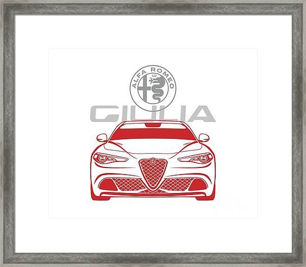 Alfa 2017 Giulia Framed Print