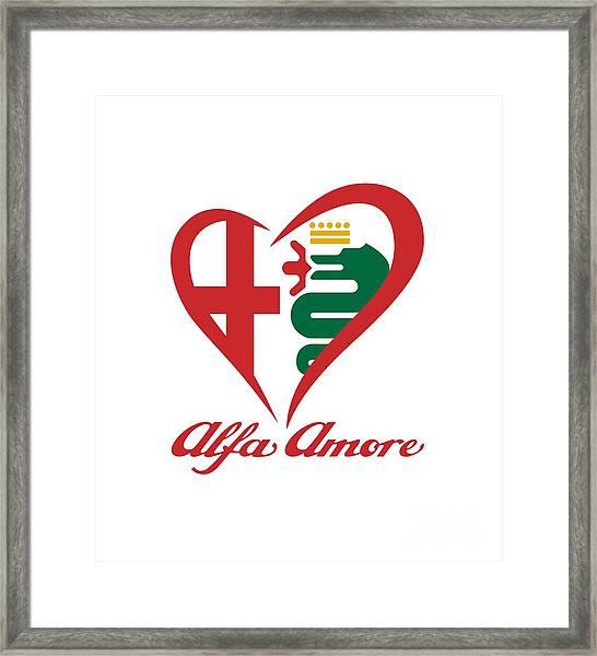 Alfa Amore Framed Print
