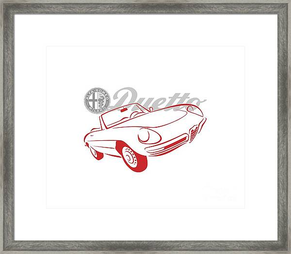 Alfa Duetto Spider-1 Framed Print