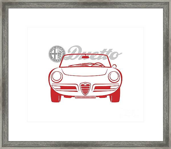 Alfa Duetto Spider-2 Framed Print