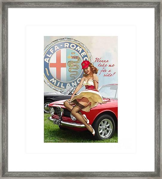Alfa Giulia Sprint Gt Babe Framed Print