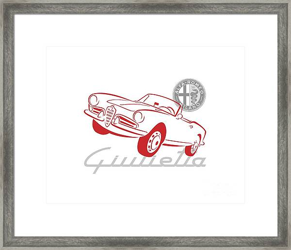 Alfa Giulietta Spider-1 Framed Print