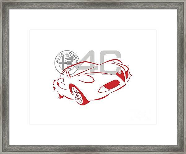 Alfa Romeo 4c-1 Framed Print
