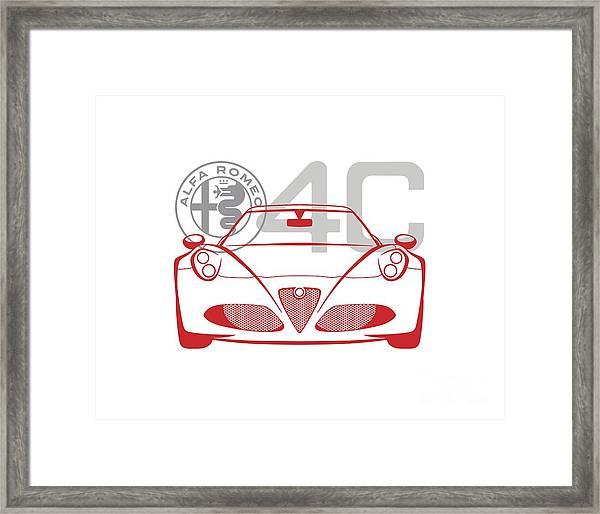 Alfa Romeo 4c-2 Framed Print