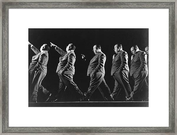 Alfred Hitchcock Framed Print by Gjon Mili
