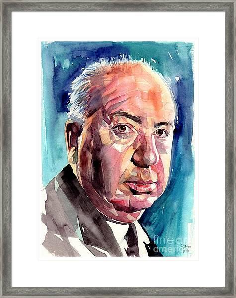 Alfred Hitchcock Portrait Framed Print