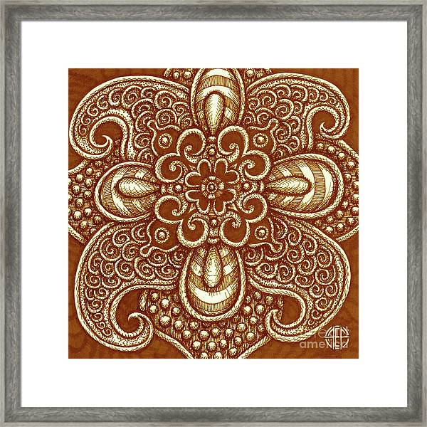Framed Print featuring the drawing Alien Bloom 17 by Amy E Fraser