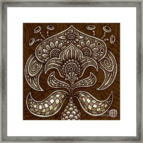 Framed Print featuring the drawing Alien Bloom 26 by Amy E Fraser
