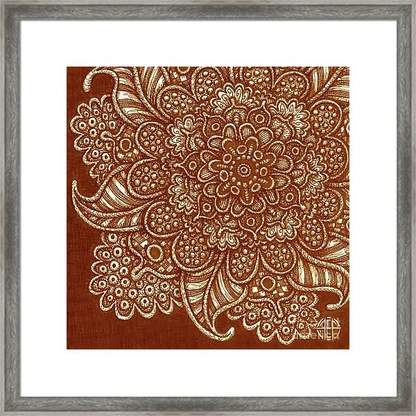 Framed Print featuring the drawing Alien Bloom 7 by Amy E Fraser