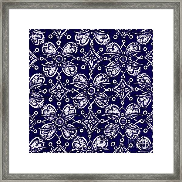 Framed Print featuring the drawing Alien Bloom 9 by Amy E Fraser