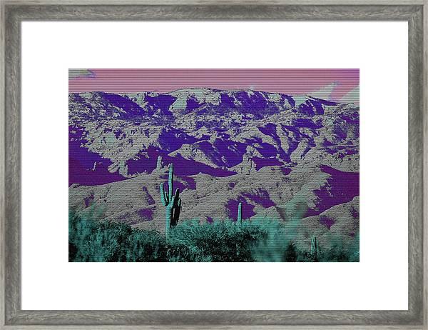 Alien Colors On Mount Lemmon Framed Print