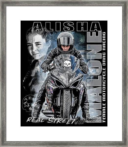 Alisha Malone V3 Framed Print
