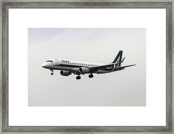 Alitalia Embraer 190 Framed Print