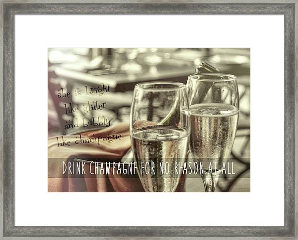 All Sparkling Quote Framed Print by JAMART Photography