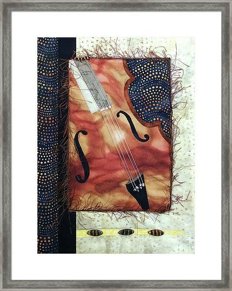All That Jazz Bass Framed Print