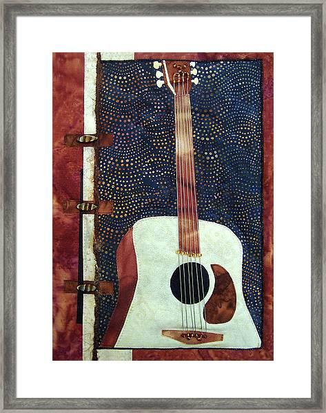 All That Jazz Guitar Framed Print