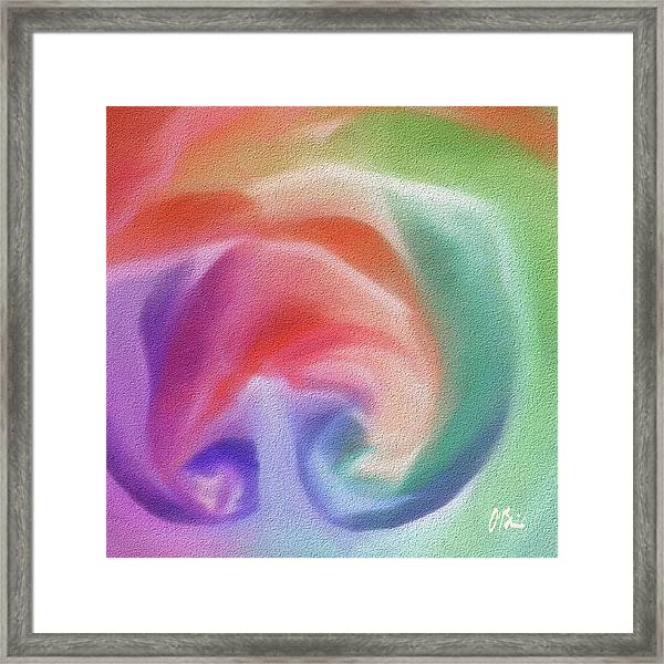 All The Colors Of - Pastel Abstract I.jpg Framed Print