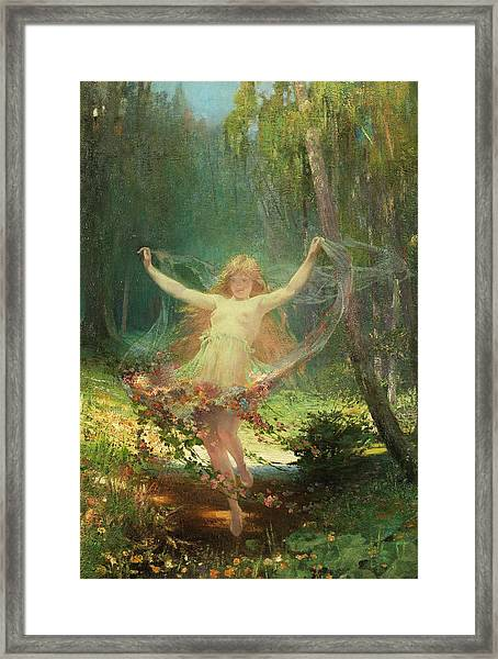 Allegory Of Spring Framed Print