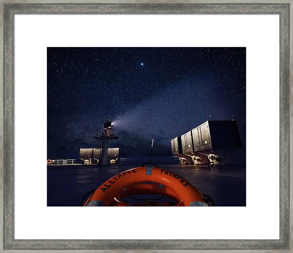 Framed Print featuring the photograph Alliance Fairfax Starry Night by William Dickman