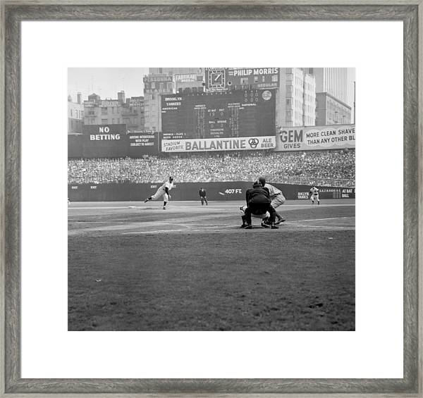Allie Reynolds Of The Yankees At The Framed Print