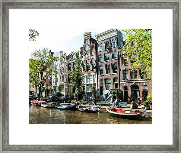 Along An Amsterdam Canal Framed Print