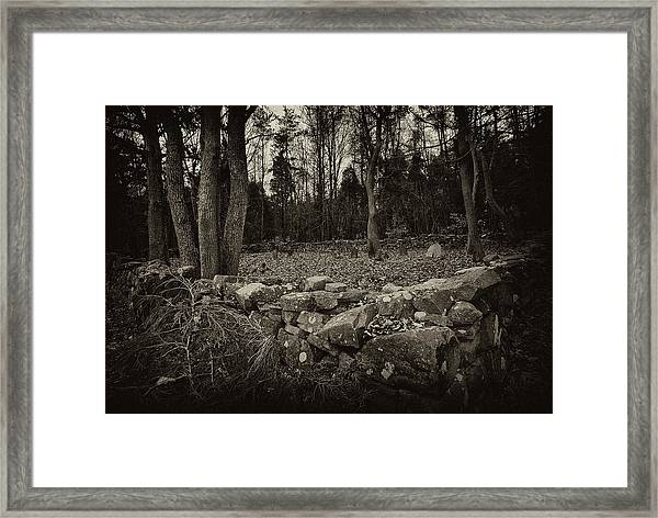 Alpine Benders Cemetery Framed Print